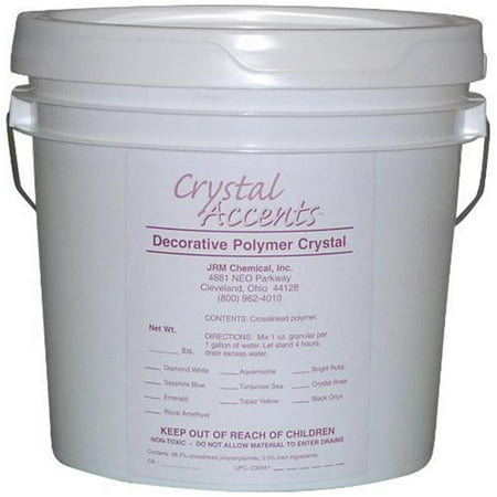 JRM Chemical CA-05Y Crystal Accents 5 lb pail Topaz Yellow