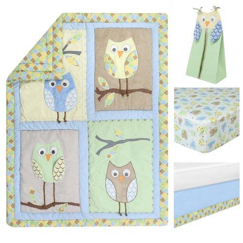 Harriet Bee Kraig Owls Crib Bedding Set (Set of 4)