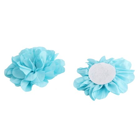 Home Birthday Party Decor Fabric Artificial Handcraft DIY Flower Blue 5 Pcs - image 1 of 3