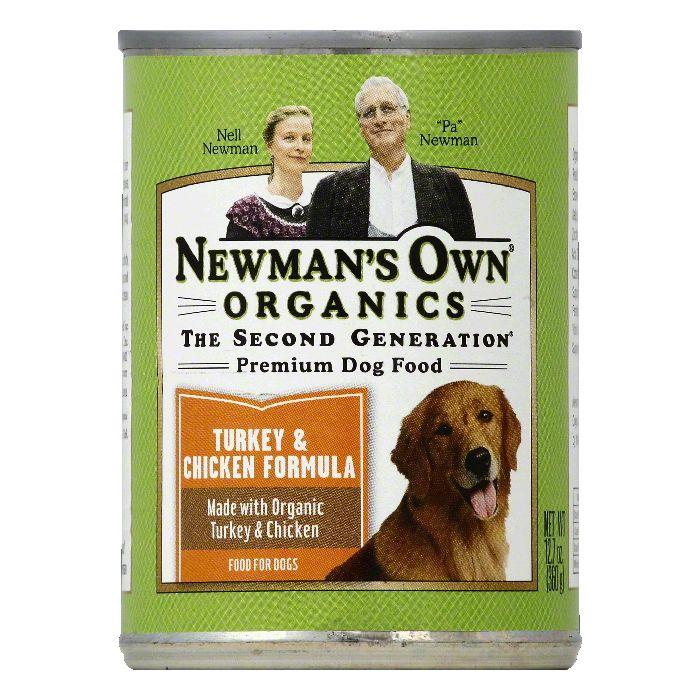 Newmans Own Organics Turkey & Chicken Formula Premium Dog Food, 12.7 OZ (Pack of 6) by