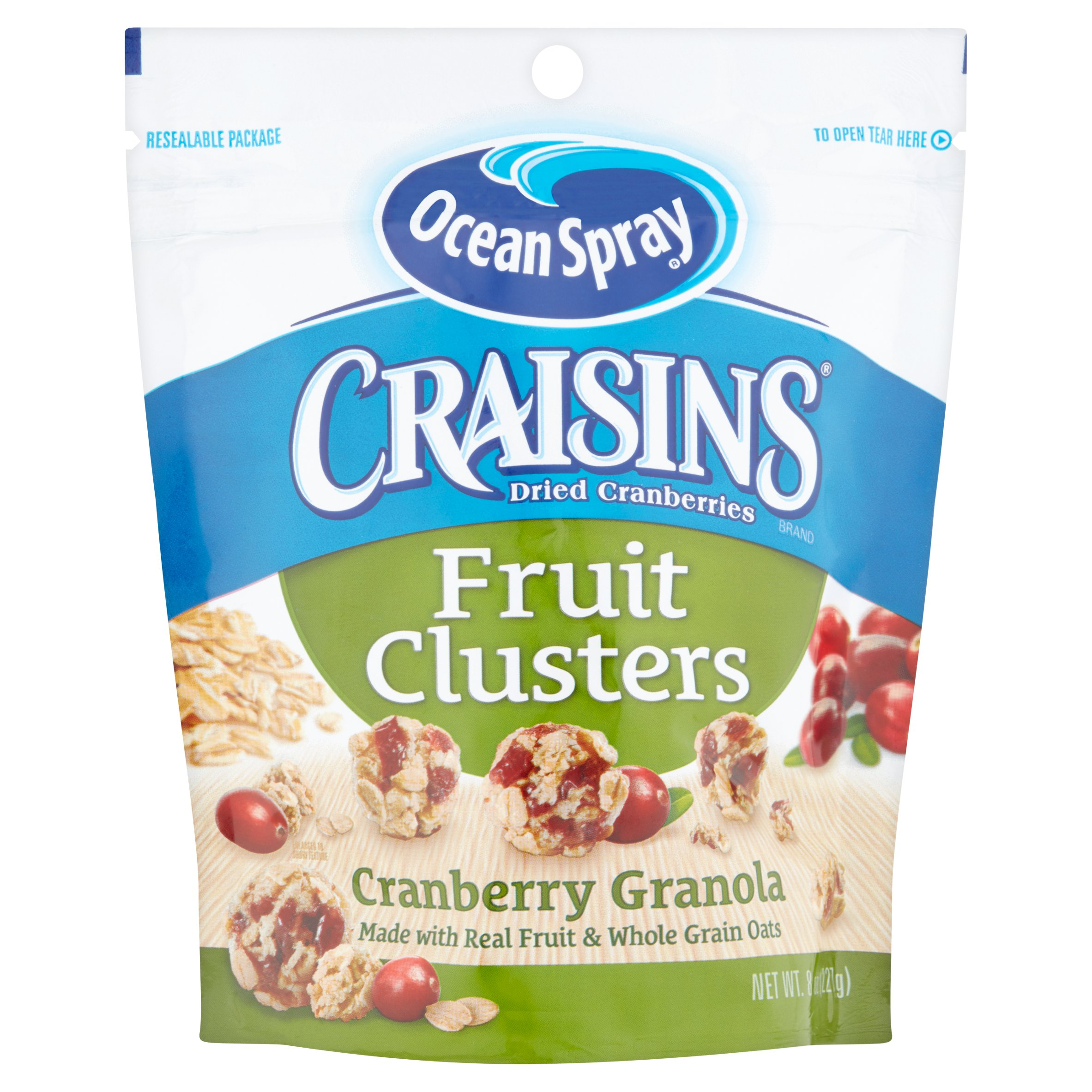 Craisins Dried Cranberries Cranberry Granola Fruit Clusters 8 oz. Bag by Ocean Spray Cranberries, Inc., a Grower Cooperative,