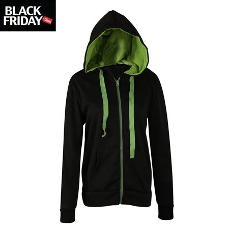 Fashionable Black&Blue hoodies Black Friday Deal gift for Women, Minimalism zipper crewneck hooded coat Christmas day gift for girl, Long sleeved Gym Sweatshirts for juniors](black friday deals workout clothes)