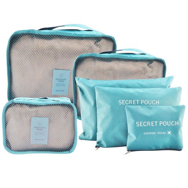 6pcs Waterproof Travel Storage Bags