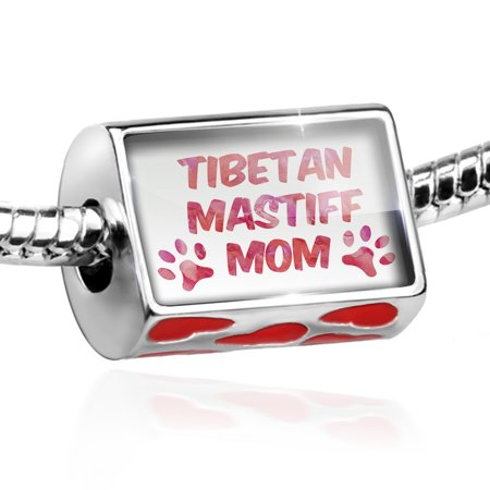 Bead Dog & Cat Mom Tibetan Mastiff Charm Fits All European Bracelets