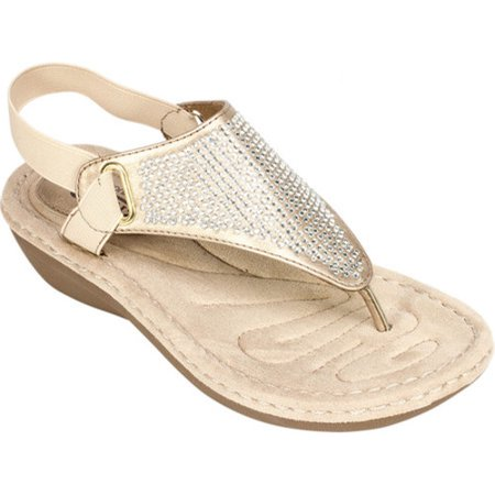5aa7e78dc8a5 White Mountain - white mountain women s crystal wedge sandal