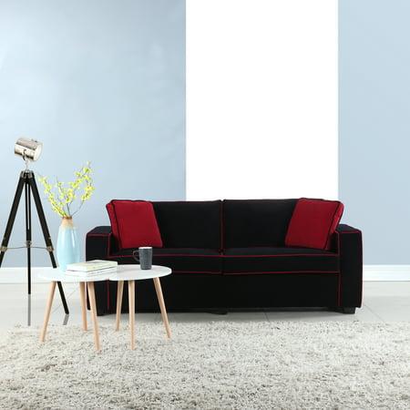 Modern Two Tone Velvet Sofa ()