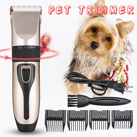 Professional Very Quiet Animal Pet Grooming Kit Cordless Cat Dog Hair Trimmer Clipper Shaver Set Pet Best Gift - image 2 of 7