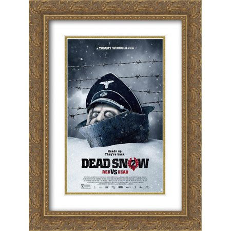 Dead Snow 2: Red vs. Dead 18x24 Double Matted Gold Ornate Framed Movie Poster Art Print
