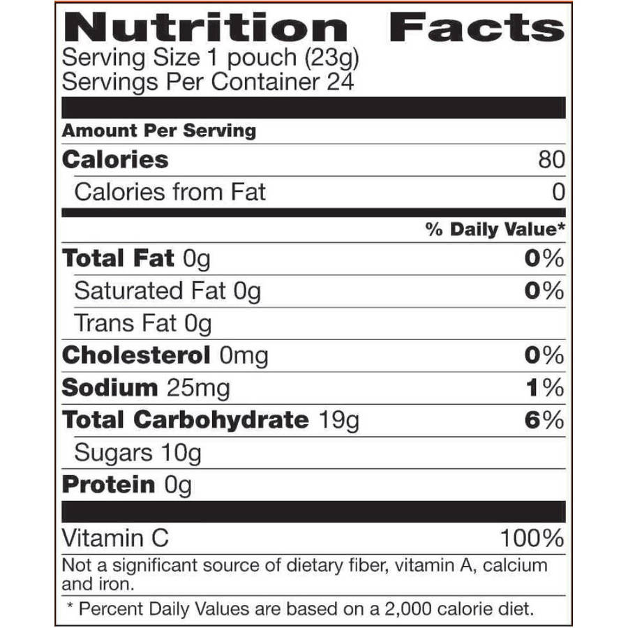 Sunkist? Mixed Fruit Fruit Flavored Snacks 24-0.8 oz. Pouches .