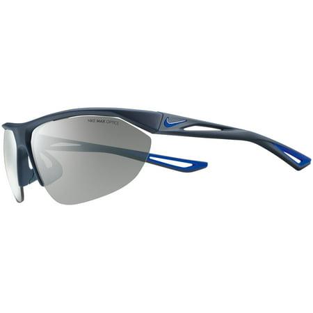 Nike Plastic Frame Grey Silver Flash Lens Men's Sunglasses (Nike Running Sunglasses)
