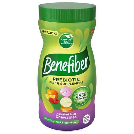 Benefiber Assorted Fruit Chewable Tablets, 100 (100% Coir Fiber)