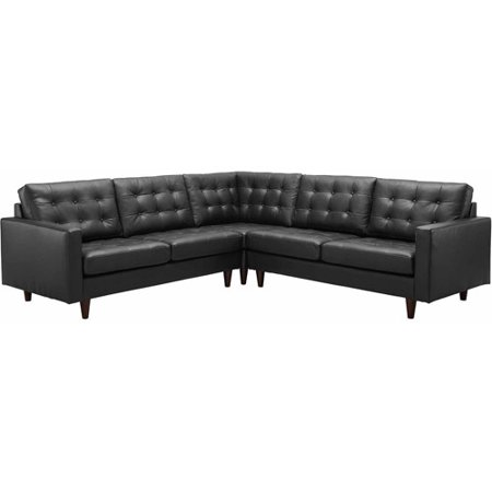 Modway Leather Sectional Sofa Multiple