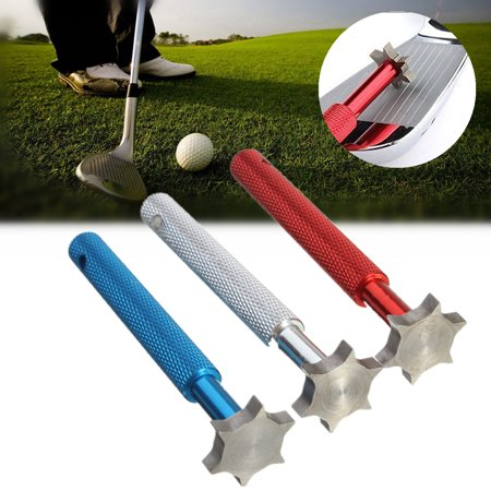 Golf Iron Wedge Club Groove Regrooving Sharpener Cleaner 6 Blade Compatible with U / V /