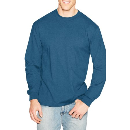 Hanes Mens Premium Beefy T Cotton Long Sleeve T Shirt