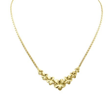 14k yellow gold hawaiian flower necklace walmart 14k yellow gold hawaiian flower necklace mightylinksfo