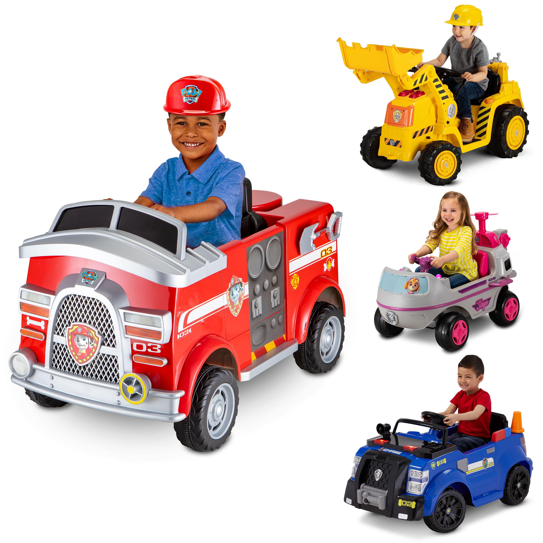 Nickelodeon S Paw Patrol Marshall Rescue Fire Truck Ride On Toy By Kid Trax Walmart Com Walmart Com