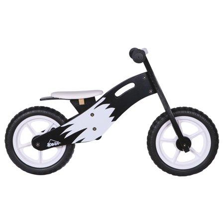 KOBE Wooden Balance Running Bike - Birch Wood No Pedals - Perfect Training Bike For Toddlers & Kids - Panda - image 3 de 11