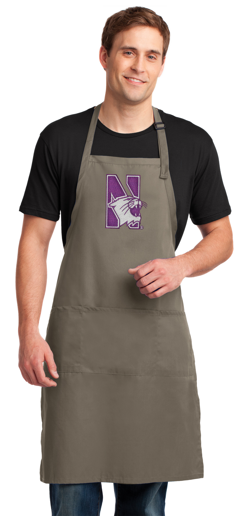 Broad Bay Northwestern University Aprons Northwestern w//Pockets Grilling Gift Him Her Men