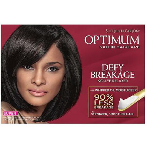 Optimum Care Salon Collection Anti-Breakage No-Lye Relaxer System, Super 1 kit (Pack of 2)