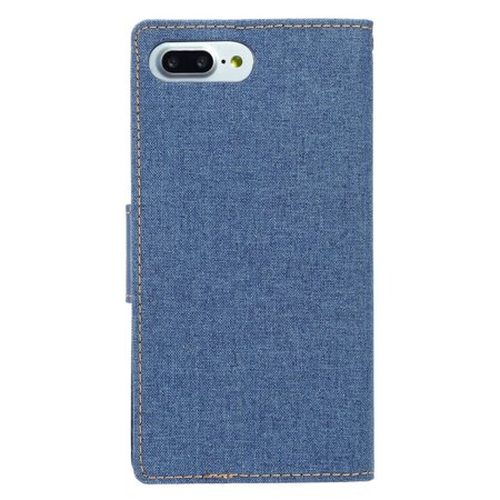 "Insten Book-Style Leather Fabric Cover Stand Card Case w/Photo Display for Apple iPhone 8 Plus / iPhone 7 Plus (5.5"") - Blue - image 1 de 4"