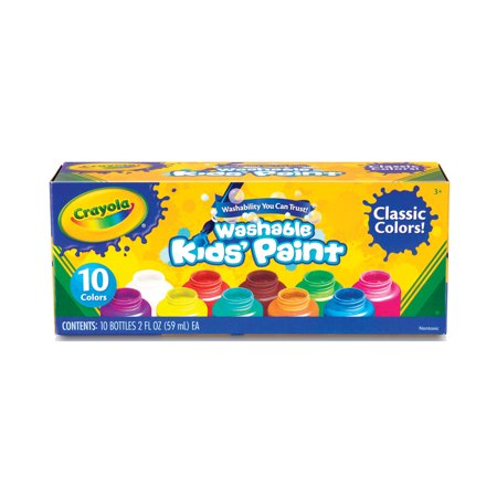 Crayola Washable Kids' Paint Set, 10-Colors Crayola Color Wonder Finger Paints