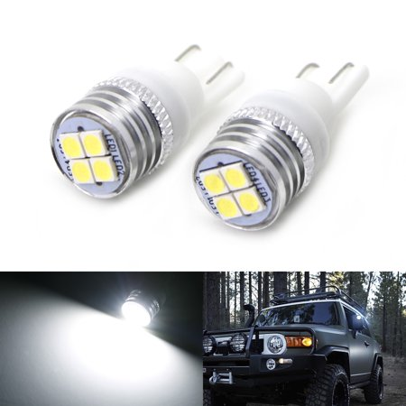 Toyota Fj Cruiser 4 Door (iJDMTOY (2) Xenon White 4-SMD High Power LED Side Mirror Replacement Bulbs For 2007-2014 Toyota FJ Cruiser)