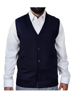 bdb18705f07 Product Image Men s Solid Color Cardigan Sweater Vest. Blue Ocean Clothing