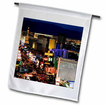 3dRose Nevada, Las Vegas, City at night - US29 BJA0044 - Jaynes Gallery - Garden Flag, 12 by 18-inch ()