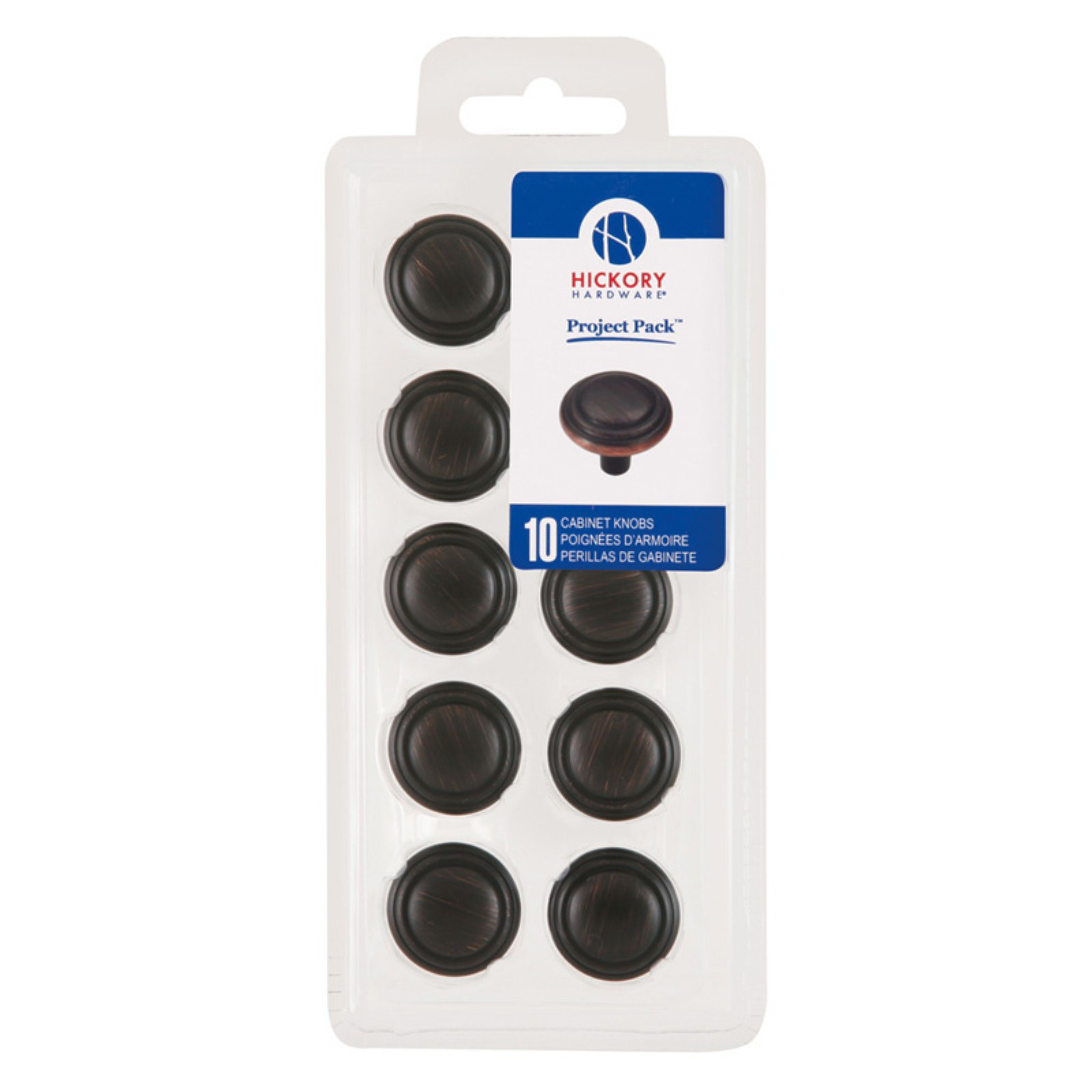 Hickory Hardware Project Packs 1.13 in. Cabinet Knobs - Set of 10