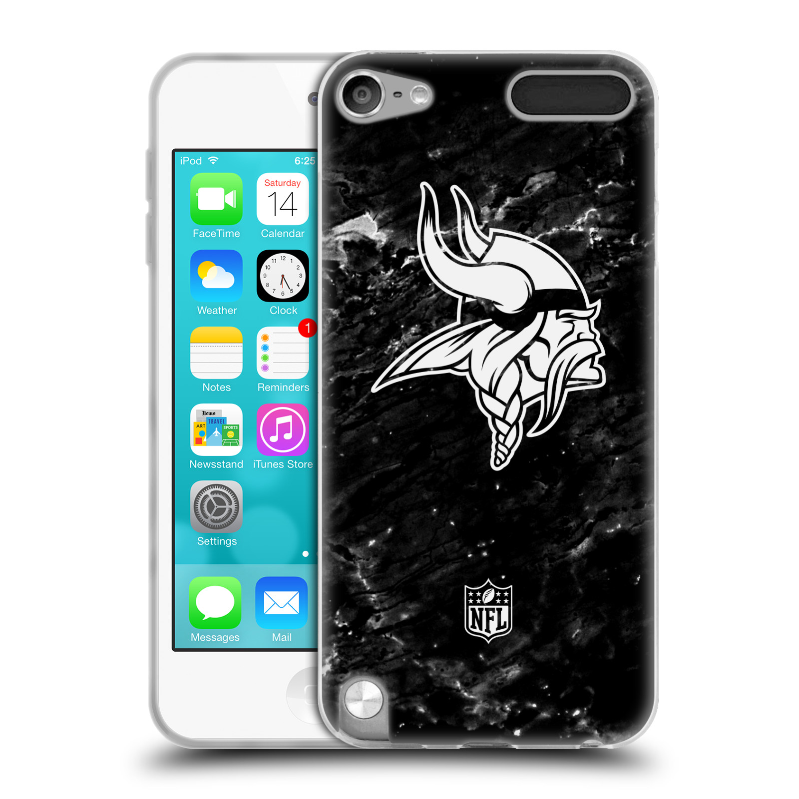 OFFICIAL NFL 2017/18 MINNESOTA VIKINGS SOFT GEL CASE FOR APPLE IPOD TOUCH MP3