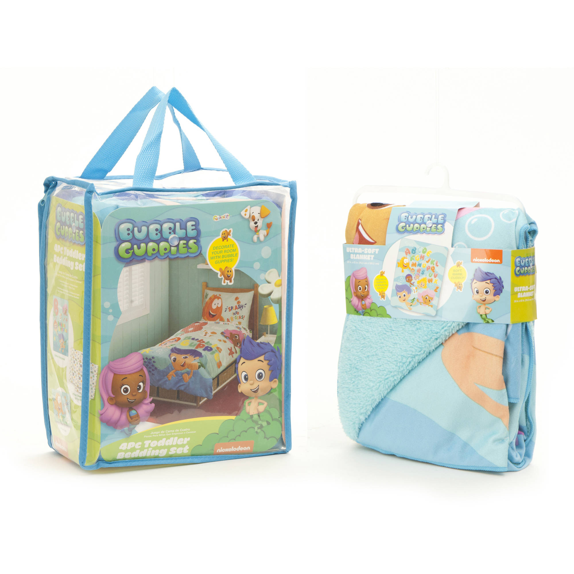 Bubble Guppies 4 Piece Toddler Bedding Set Molly And ...