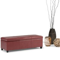 Simpli Home Avalon Large Storage Ottoman Bench