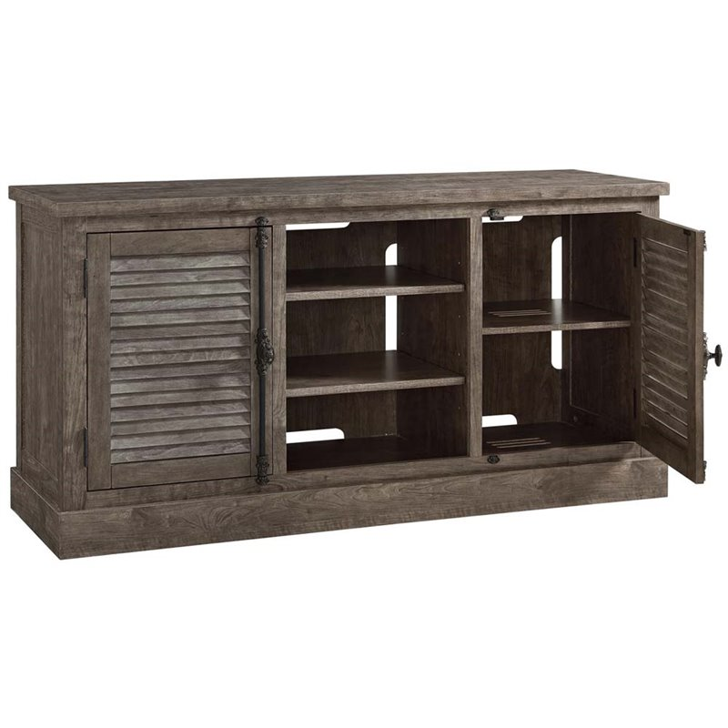 Ameriwood Home Sienna Park TV Stand in Rustic Gray
