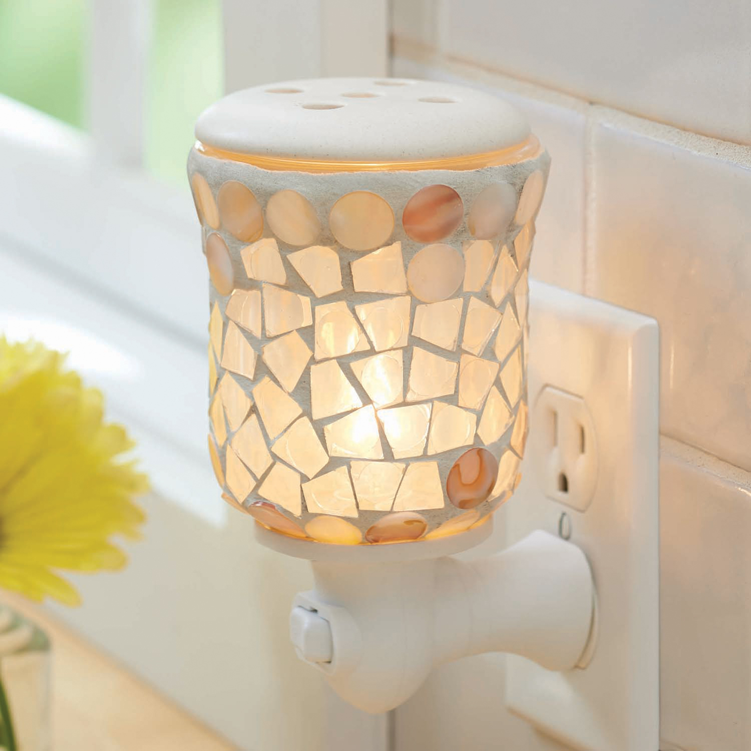 Wall Accent Scented Wax Warmer Multicolored: Better Homes & Gardens Mosaic Wall Accent Scented Wax