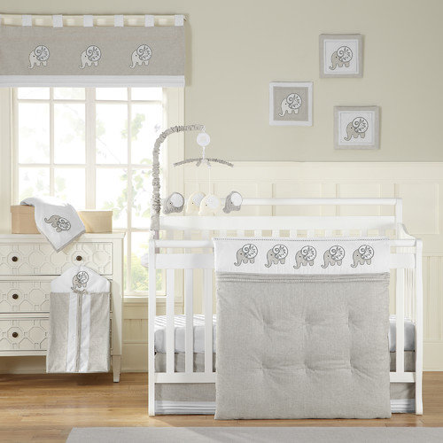 Laugh, Giggle & Smile Elephant Chic 11 Piece Crib Bedding Set