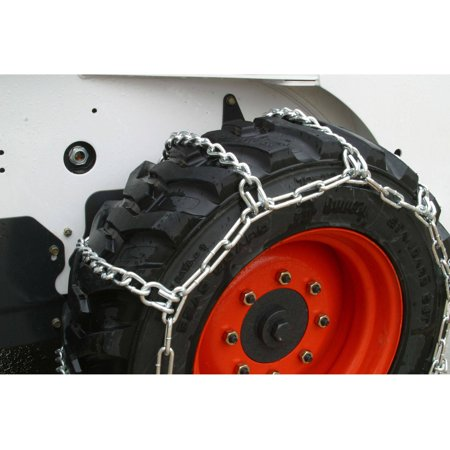 Heavy Duty 10-16.5 Skidsteer Tire Chains, 4 Link Spacing Thule Tire Chains