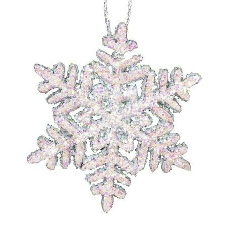 Alexander Taron Large Snowflakes with Sparkles Christmas Ornament 1.75L 0.1W 1.75H - Large Snowflake