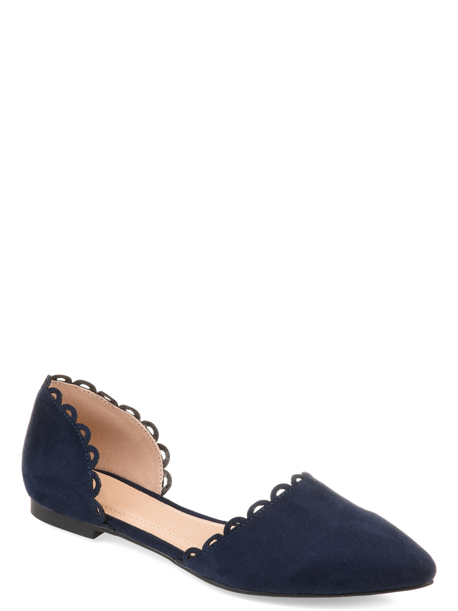 Womens Scalloped Flat
