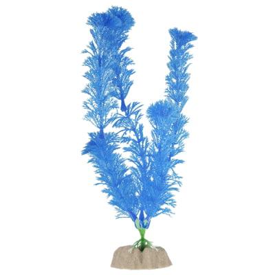 GloFish Blue Fluorescent Aquarium Plant Decoration, Large by Spectrum Brands