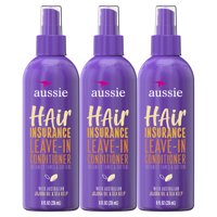 Aussie Hair Leave-In Conditioner with Jojoba Oil, 8 fl oz, 3 Pack