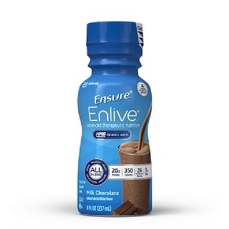Ensure Enlive Nutritional Shake, Chocolate, 8 Ounce Bottle, Abbott 64283 - Case of 24