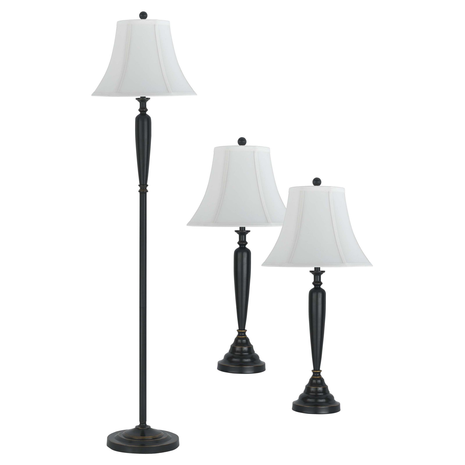 Cal Lighting BO-2049 3 3 Piece Package 2 Table Lamps   1 Floor Lamp by CAL Lighting