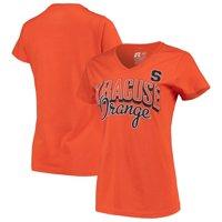 Women's Russell Athletic Orange Syracuse Orange Arch V-Neck T-Shirt