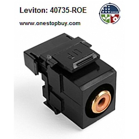 110 Quickport Snap (Leviton 40735-ROE RCA-110 QuickPort Snap-In Connector - Black )