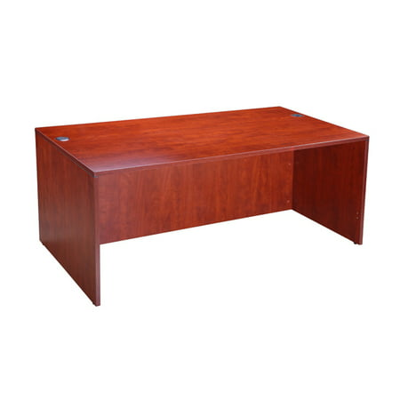 Boss Office Products Cherry 71 inch Desk Shell
