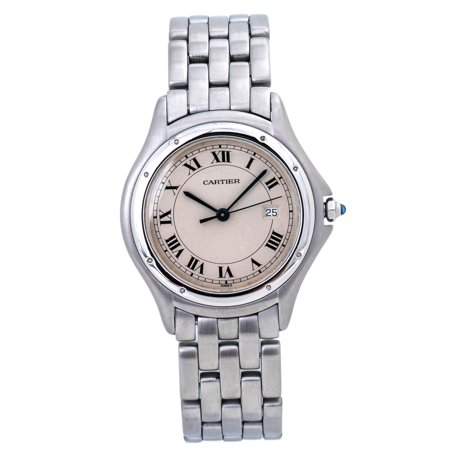 Pre-Owned Cartier Panthere Cougar 987904 Steel Women Watch (Certified Authentic & Warranty)