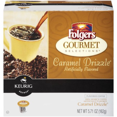 Folgers Gourmet Selections Caramel Drizzle K-Cups, 18 count