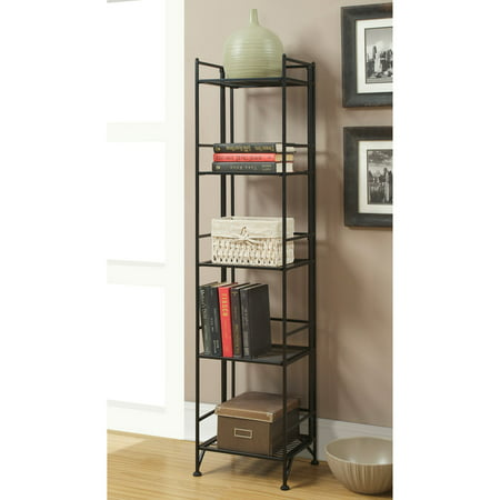 - Convenience Concepts Designs2Go Metal Folding 5 Shelf Bookcase, Multiple Finishes