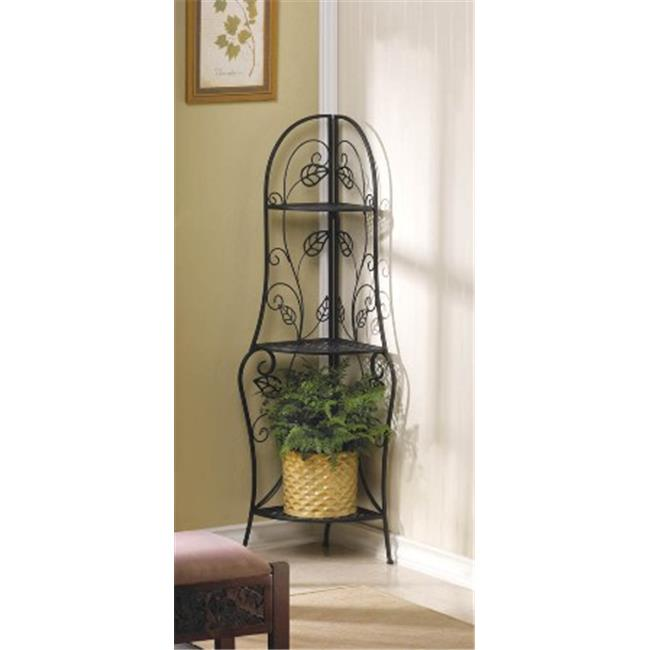 Zingz & Thingz 57071102 Vines Metal Corner Baker Rack