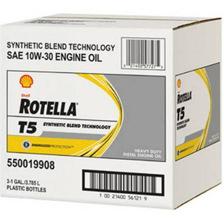 Shell Rotella T5 10w 30 Motor Oil 1 Gallon 3 Pack
